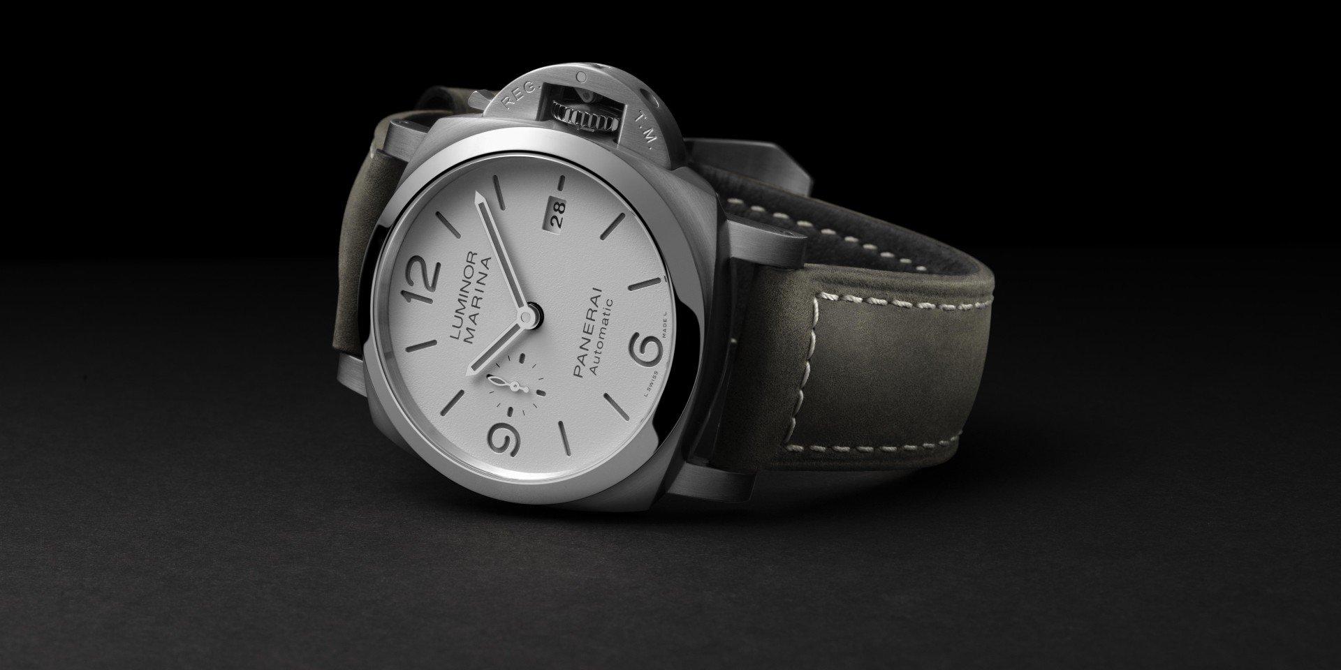 【2020線上錶展】沛納海發表首款白色三明治面盤腕錶 —Luminor Marina Automatic 44毫米腕錶 (PAM01314)