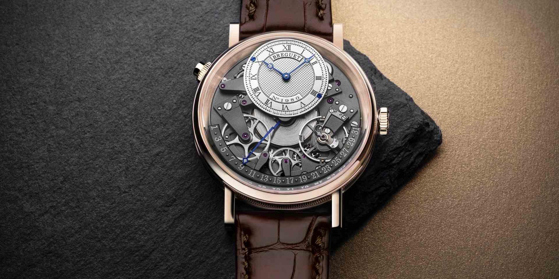 寶璣傳世系列Tradition Quantième Rétrograde 7597日期逆跳腕錶