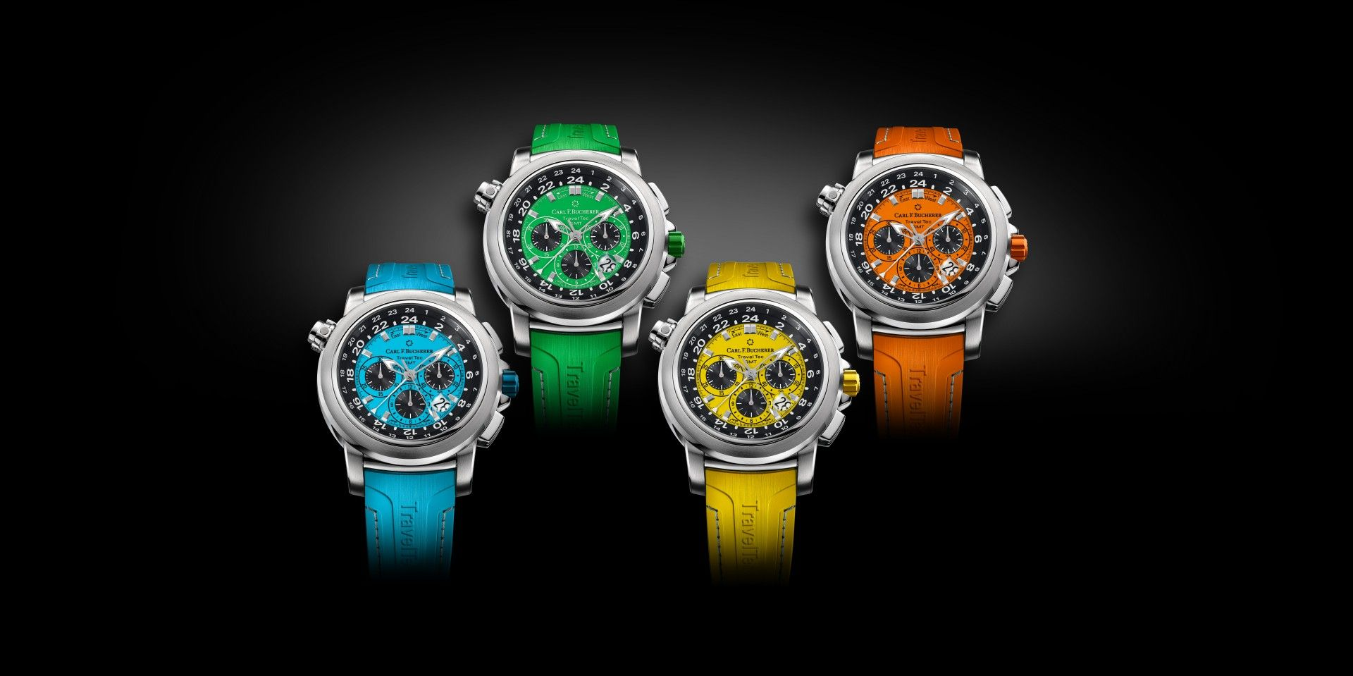 季節流轉 四色爭妍:寶齊萊 Patravi TravelTec 柏拉維三地時間計時碼錶彩色版