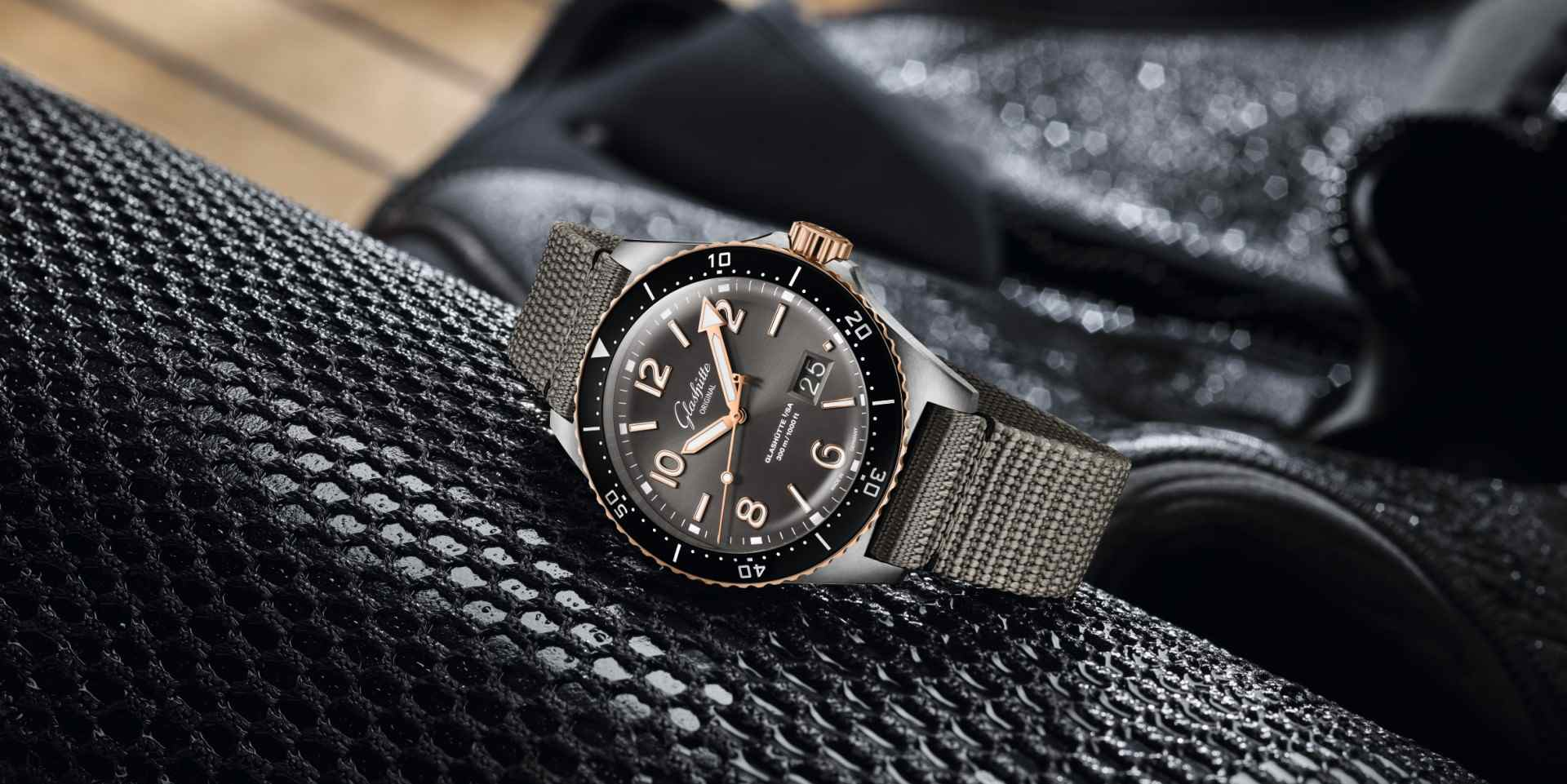 抓緊夏天的尾巴,格拉蘇蒂原創新版雙色SeaQ大日期潛水錶正式抵台