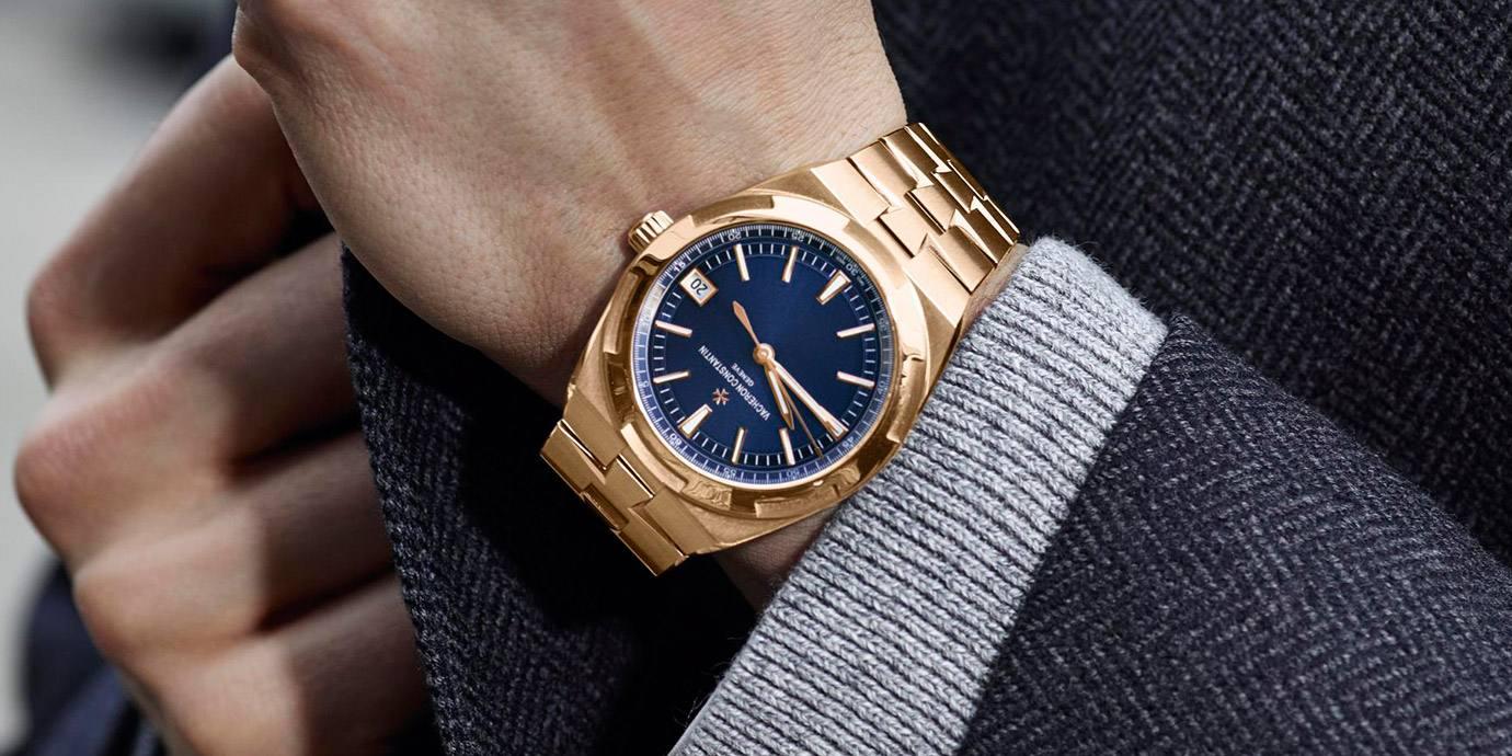 【2020線上錶展】典雅藍金配:江詩丹頓Overseas自動上鍊粉紅金腕錶