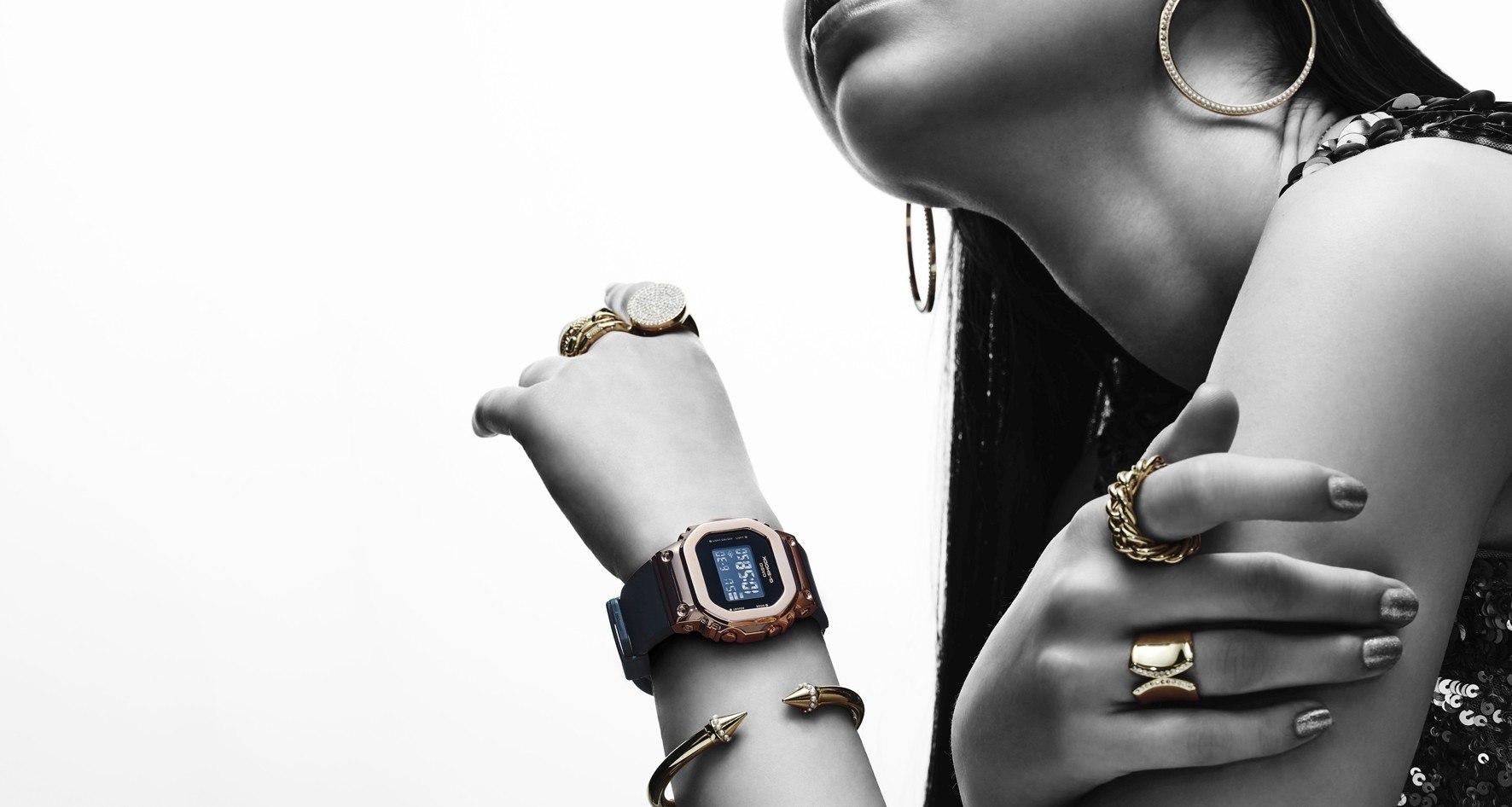 兼具知性簡約與個性型格的仕女錶款:CASIO G-SHOCK GM-S5600系列推出玫瑰金錶圈新款式