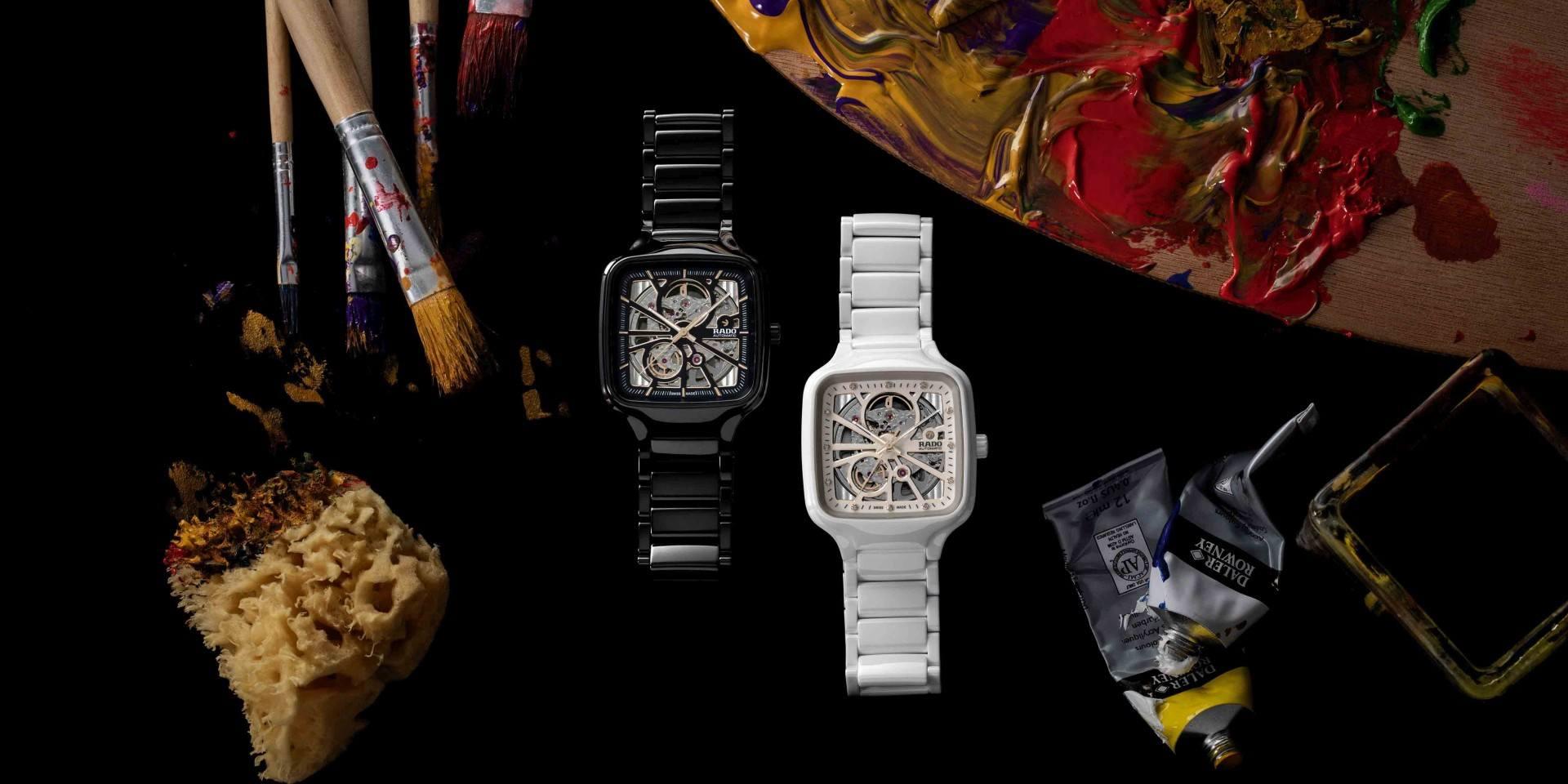 盡情感受方形腕錶的輕盈律動:Rado True Square高科技陶瓷鏤空自動腕錶