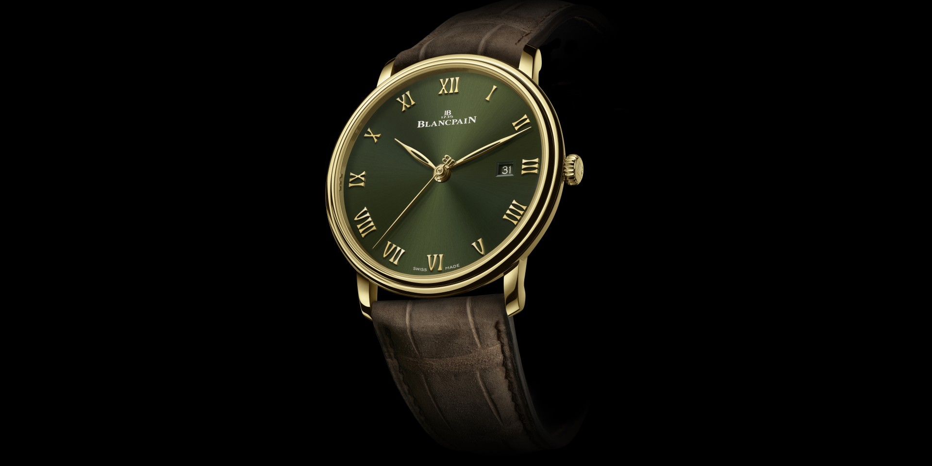 BLANCPAIN推出全新Villeret超薄錶專門店限定款,首度採用綠色錶盤