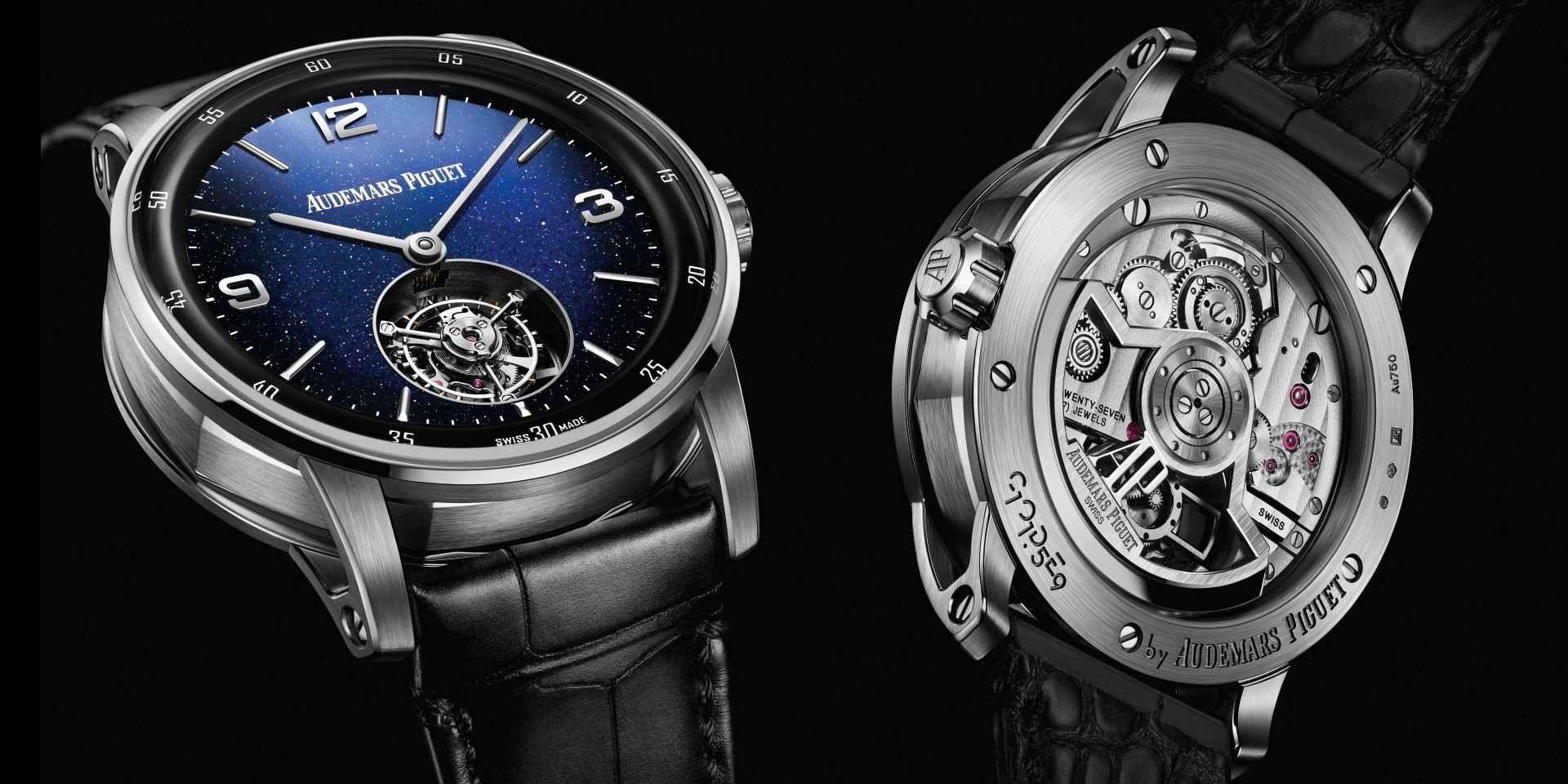 繁星滿天的浩瀚夜空:愛彼CODE 11.59系列砂金石錶面飛行陀飛輪自動上鍊腕錶