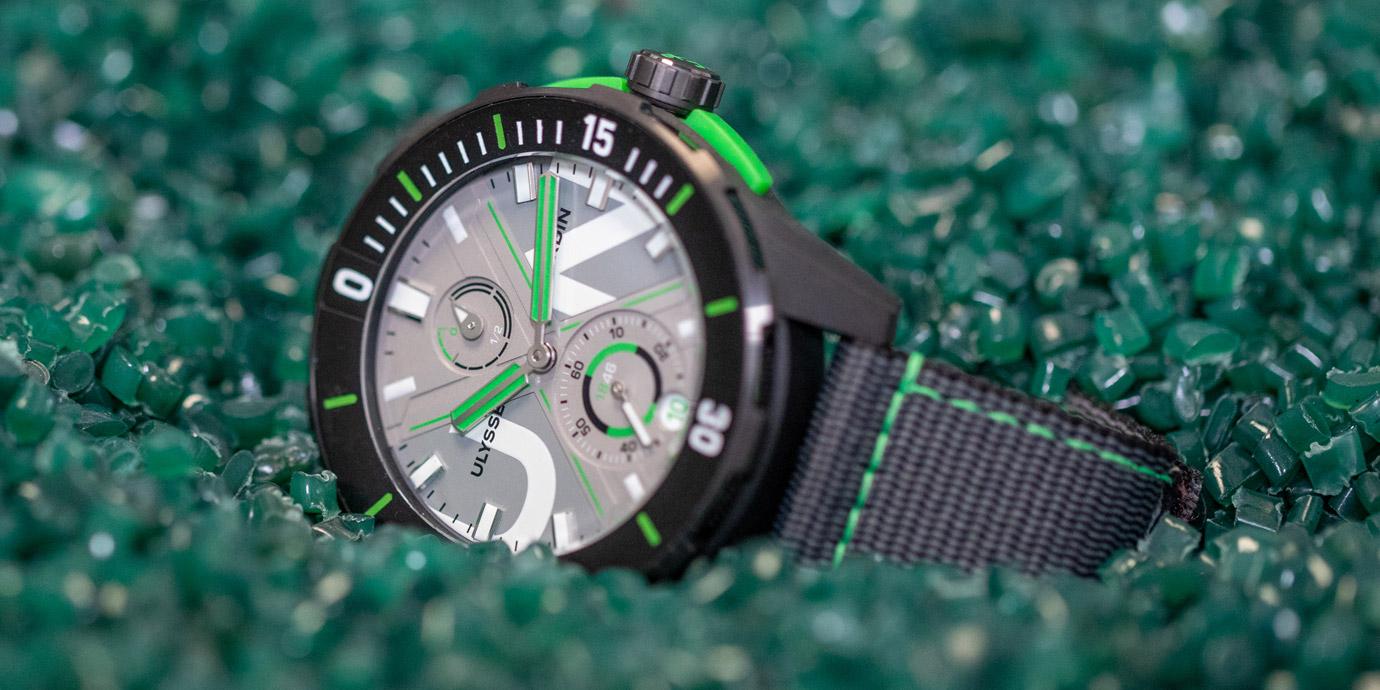 【2020線上錶展】以回收漁網製作:Ulysse Nardin Diver Net環保概念錶