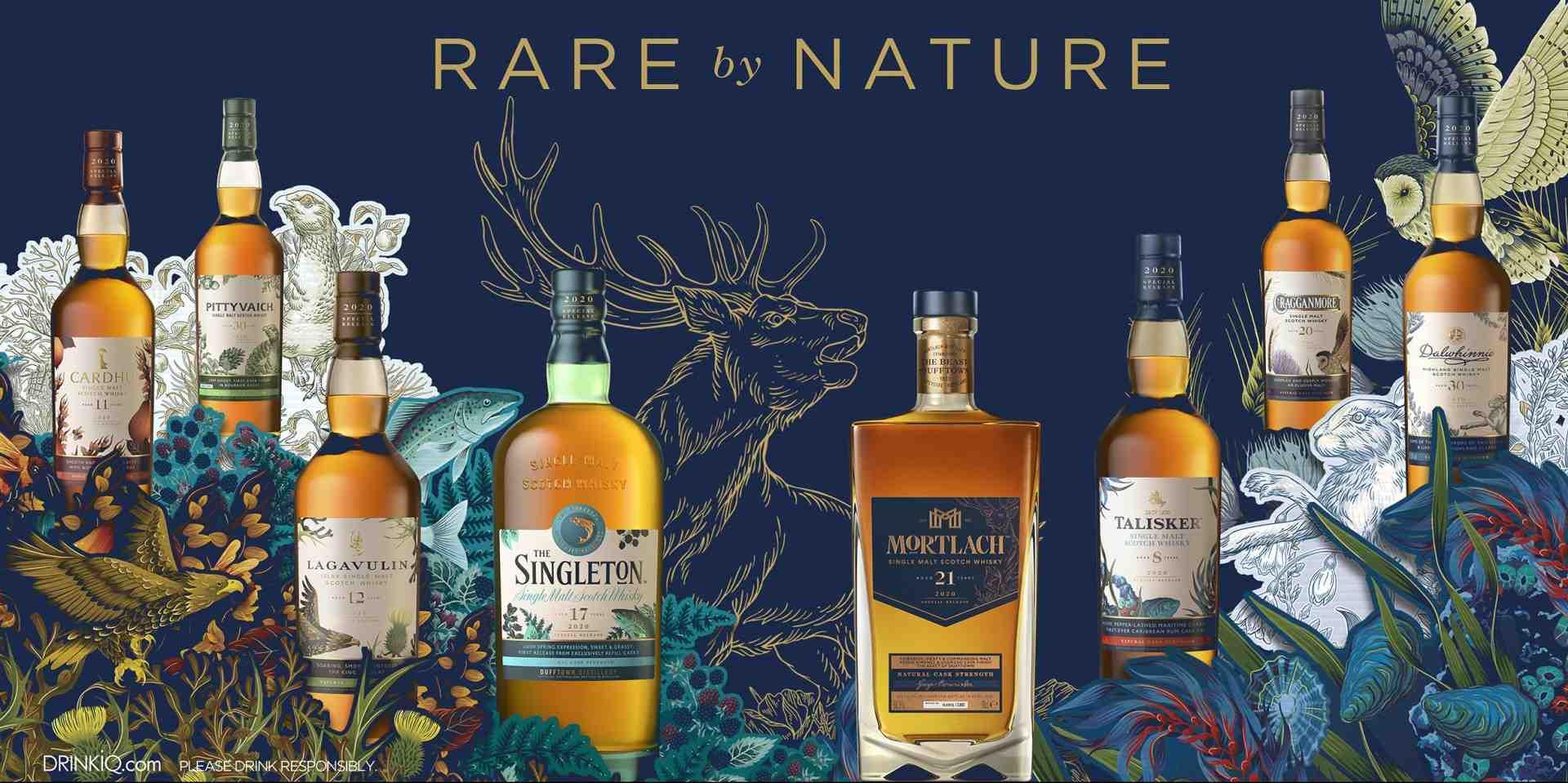 萬眾矚目「Rare by Nature天生珍稀」磅礡再現:帝亞吉歐 2020 年度限量原酒臻選系列