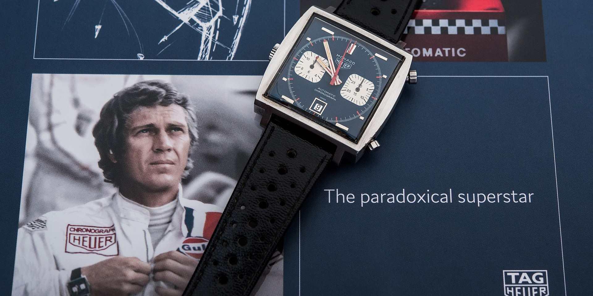 Steve McQueen 於《Le Mans》電影中所佩戴的Heuer Monaco計時碼錶,於富藝斯拍賣會創下220萬美元成交新紀錄