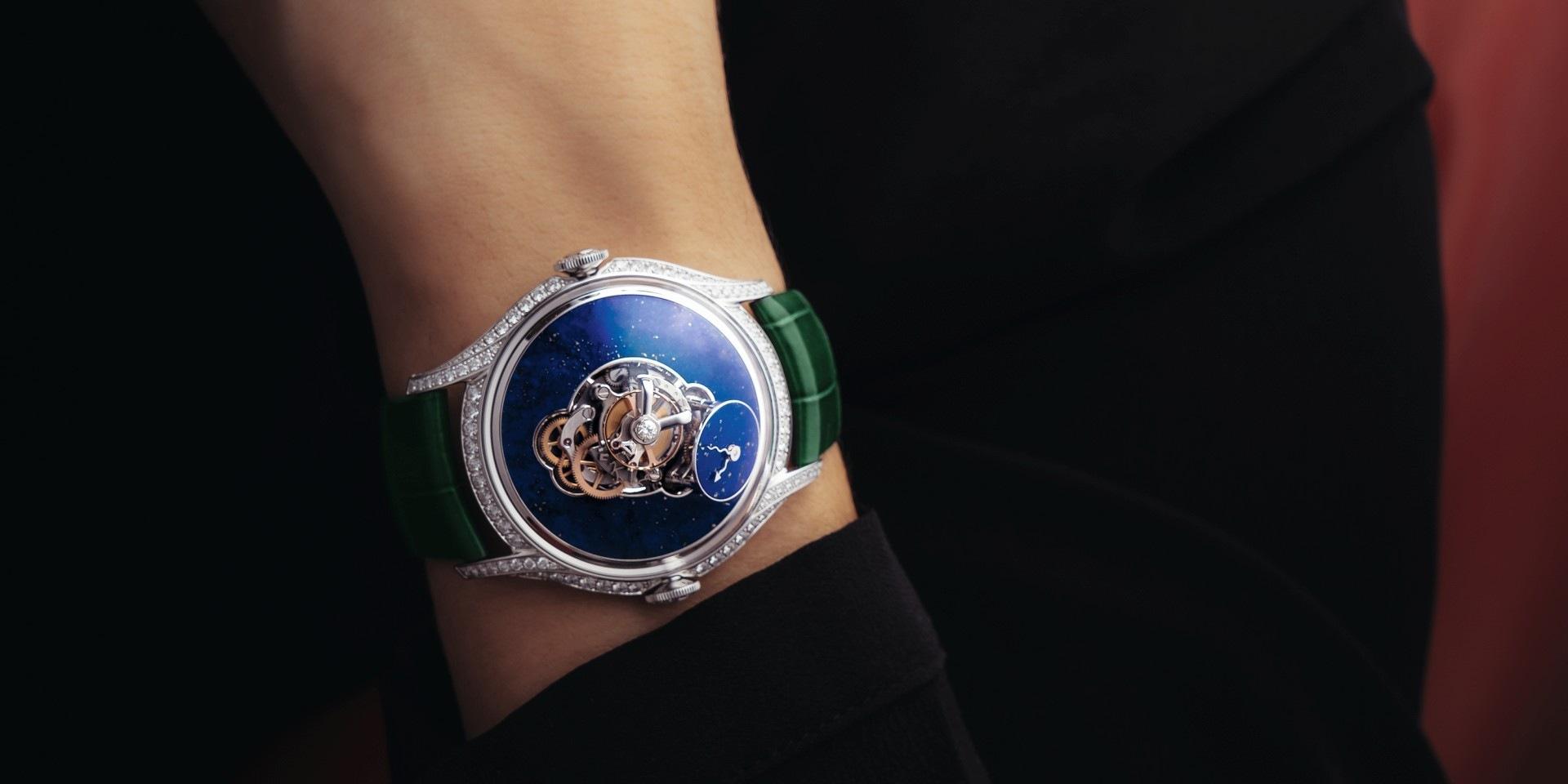 MB&F為女性量身打造的腕錶—Legacy Machine FlyingT 推出藍色青金石面盤款式