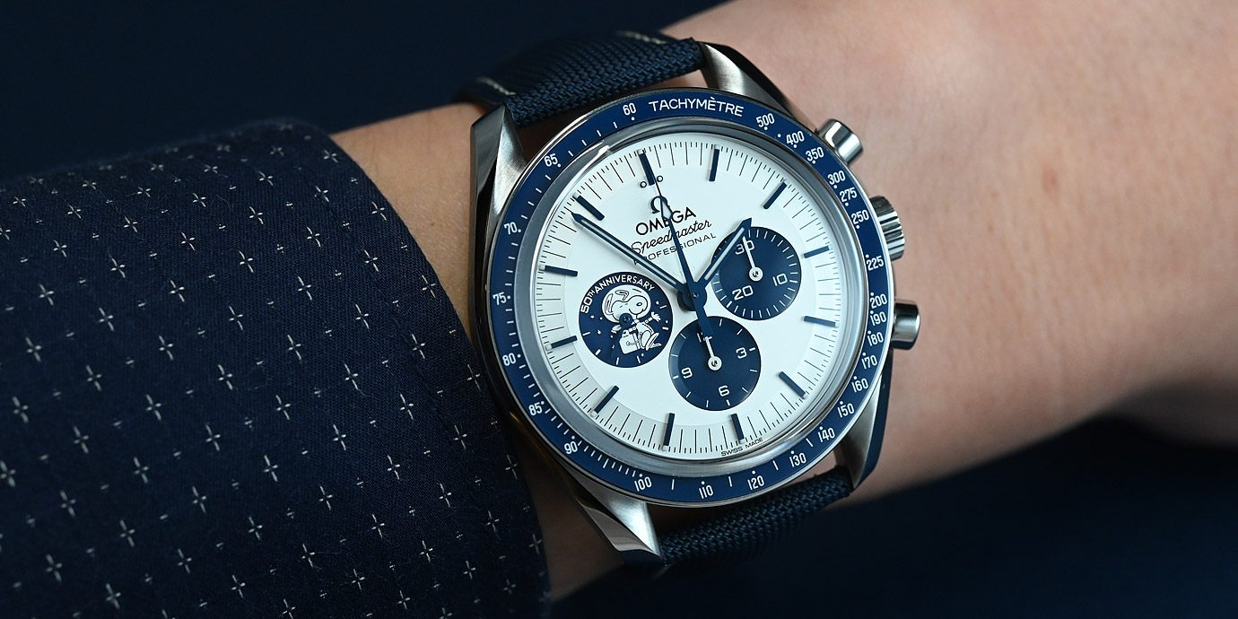 耍萌的太空史奴比:Omega Speedmaster Silver Snoopy Award 50th 紀念錶
