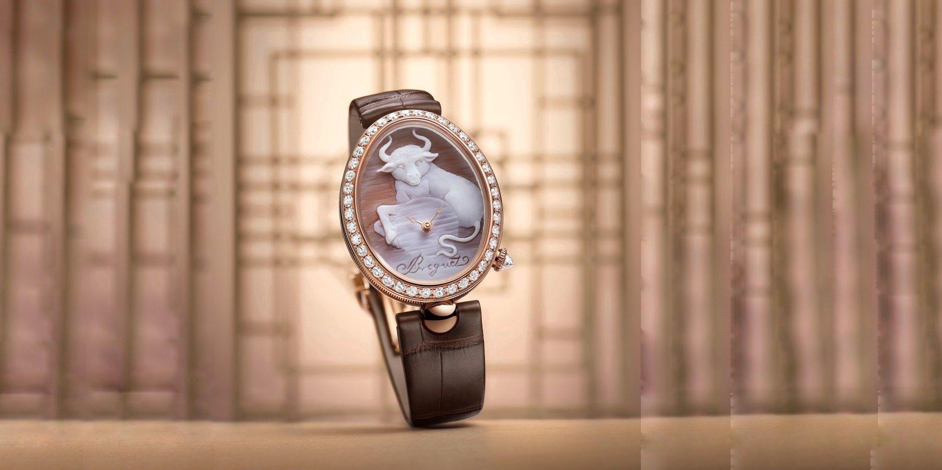 寶璣以貝殼浮雕工藝禮讚牛年,隆重獻上Reine de Naples 8955 Cammea腕錶