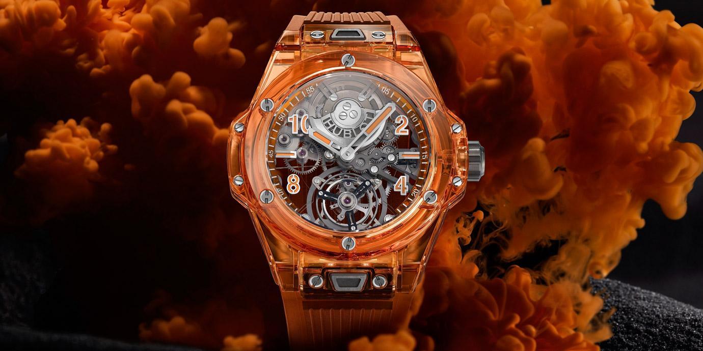 【LVMH Watch Week 2021】全「橘」登場:Hublot Big Bang冰橙藍寶石陀飛輪自動上鍊腕錶