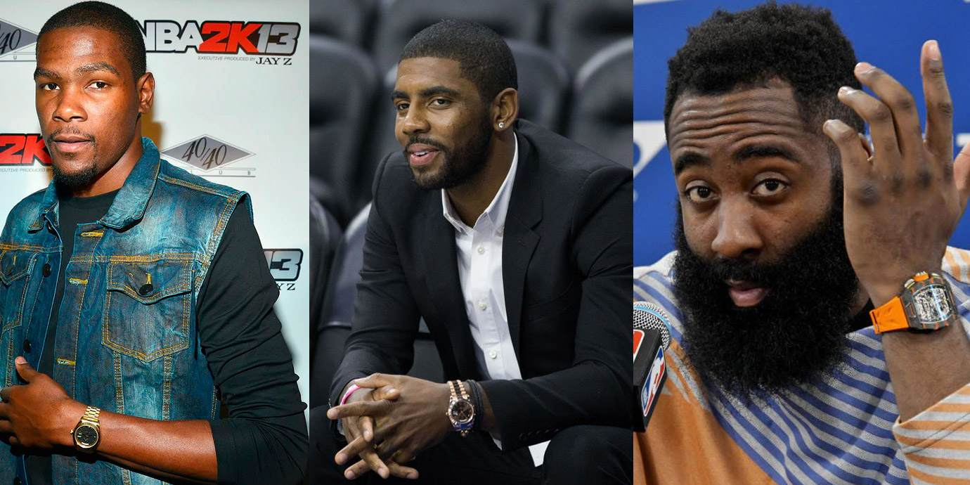 NBA布魯克林籃網三巨頭與他們的腕錶