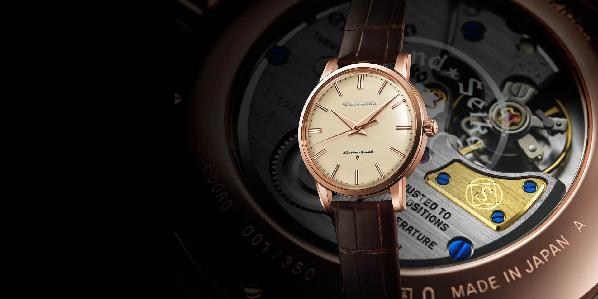 重現初代風采的18K玫瑰金腕錶:GRAND SEIKO SEIKO創立140週年紀念限量款SBGW260