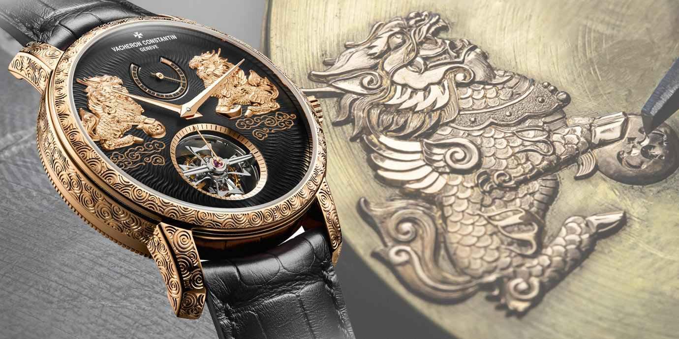 金絲嵌花麒麟護身:江詩丹頓Traditionnelle陀飛輪腕錶