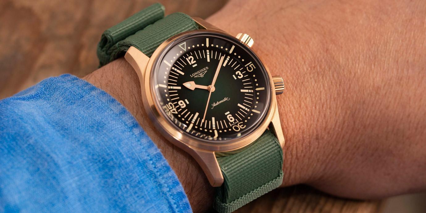 增添復古味:Longines Legend Diver復刻傳奇潛水腕錶青銅款