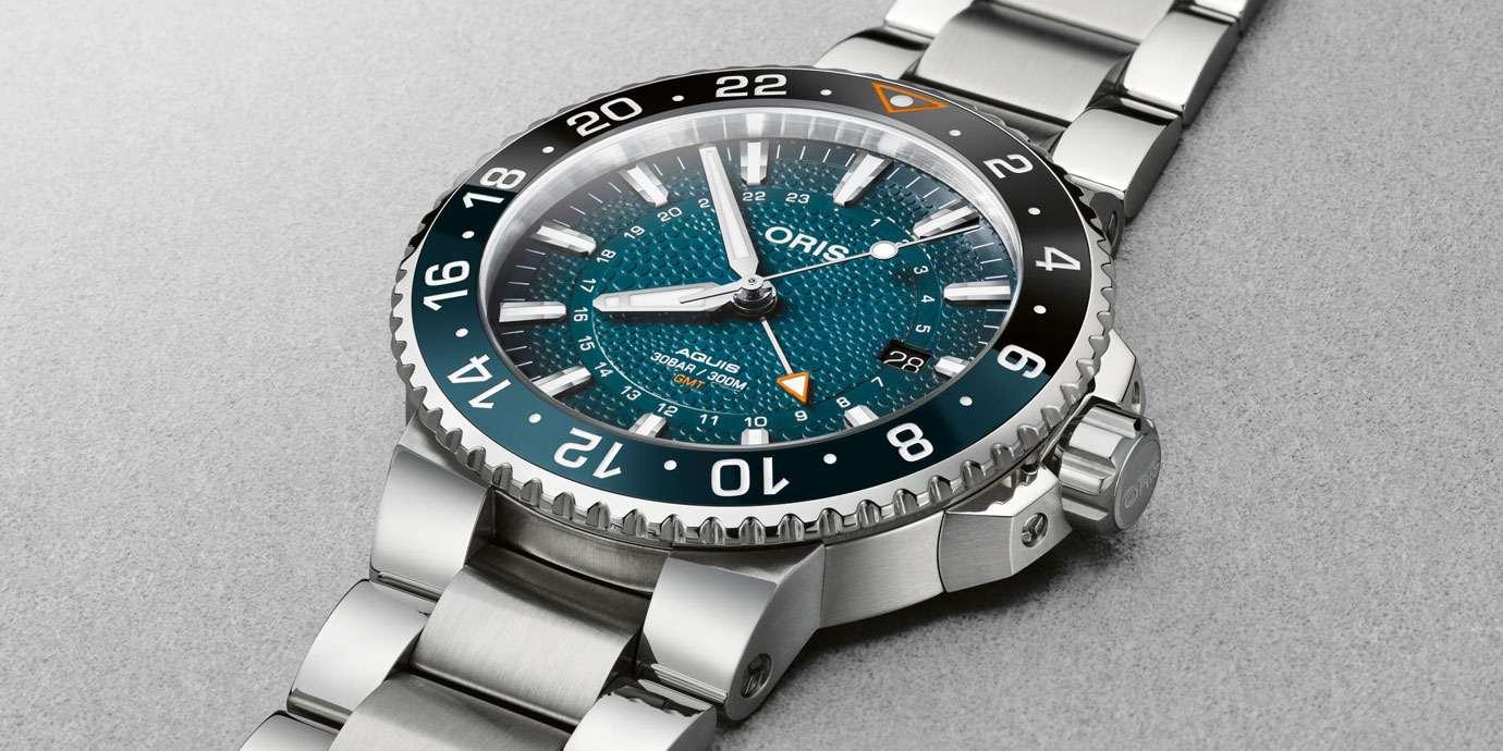 以鯨鯊為靈感而生:Oris Aquis GMT Whale Shark限量腕錶