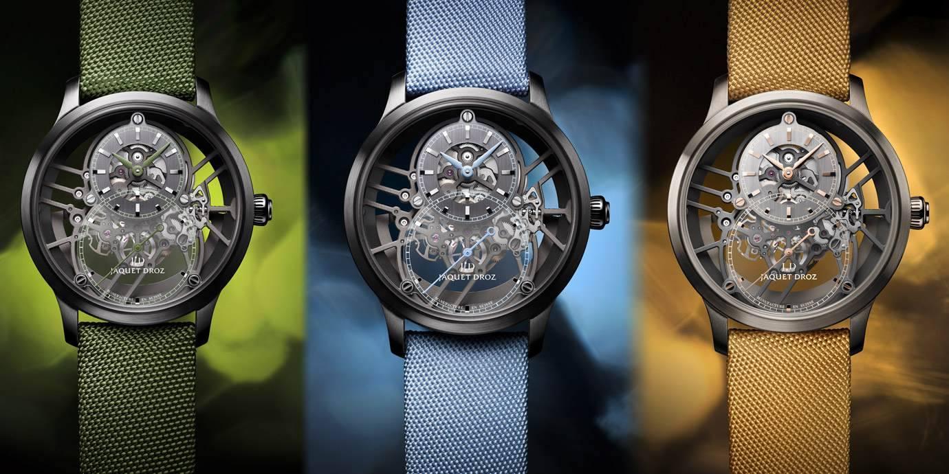 鮮豔鏤空:Jaquet Droz大秒針鏤空腕錶新作