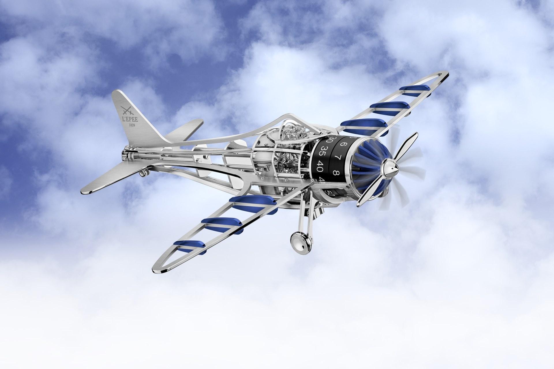 L'Epée 1839 攜手洛桑藝術學院推出Time Flies飛行時光座鐘