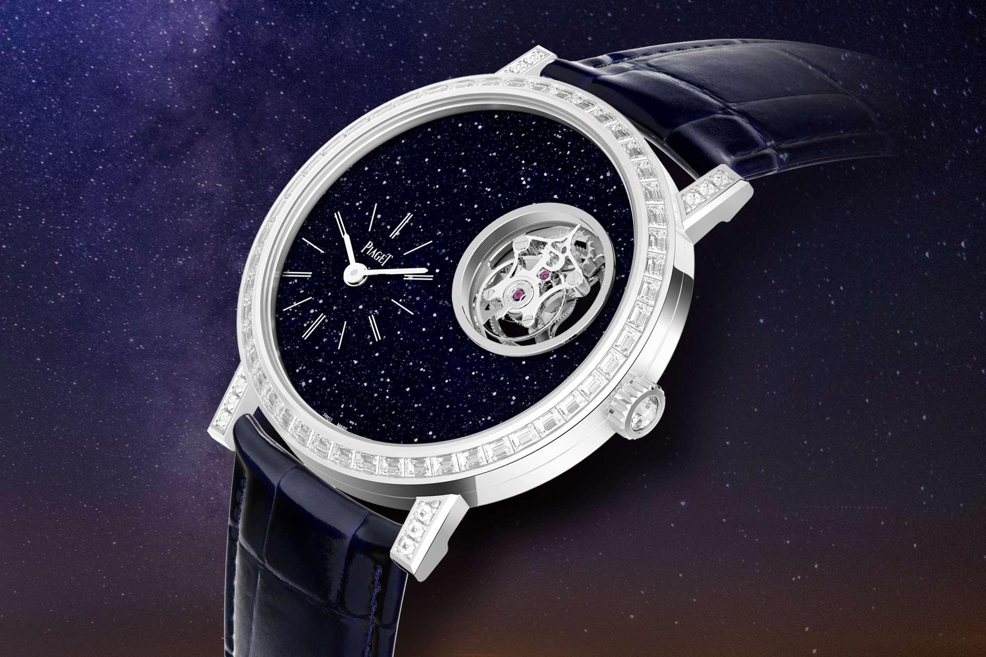 在閃爍星光下飛舞:伯爵發表全新Altiplano系列砂金石面盤陀飛輪腕錶