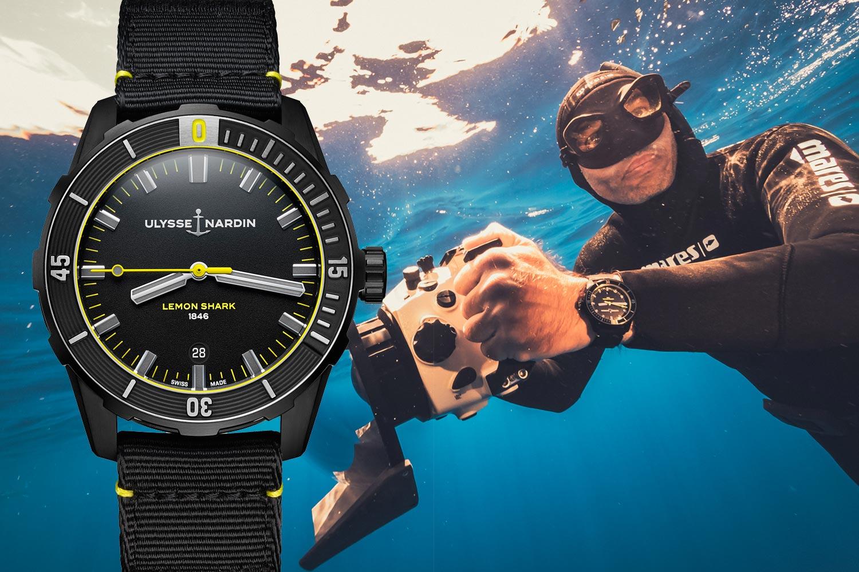 深海掠食者:Ulysse Nardin檸檬鯊潛水錶