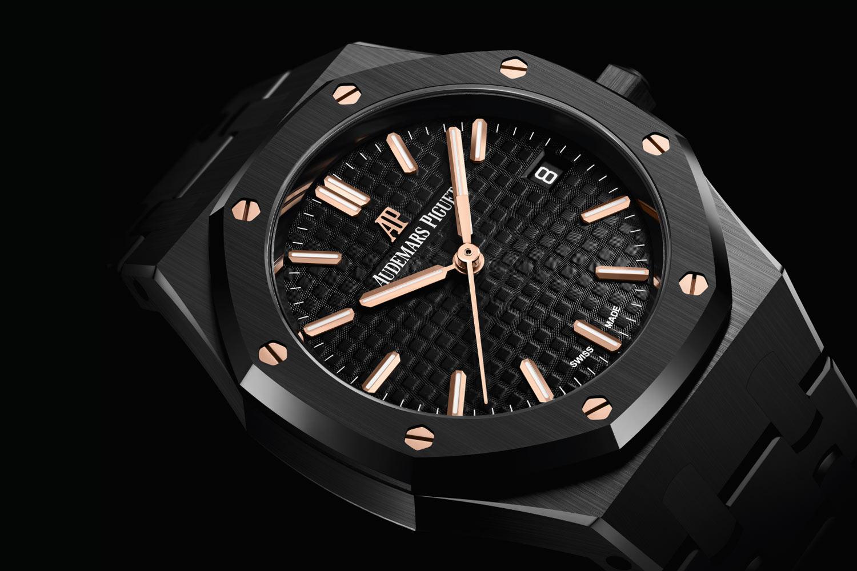 黑色陶瓷混搭玫瑰金:Audemars Piguet皇家橡樹自動上鍊腕錶