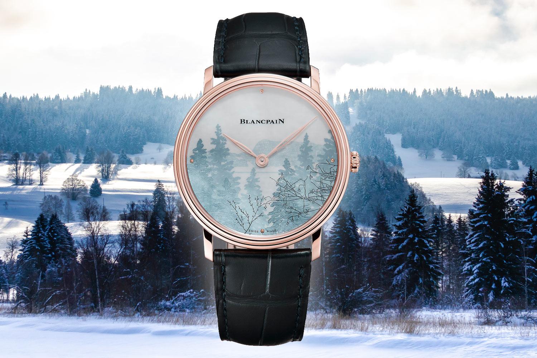 獨特技法秀自然風光:Blancpain Métiers d'Art系列Le Brassus工藝腕錶