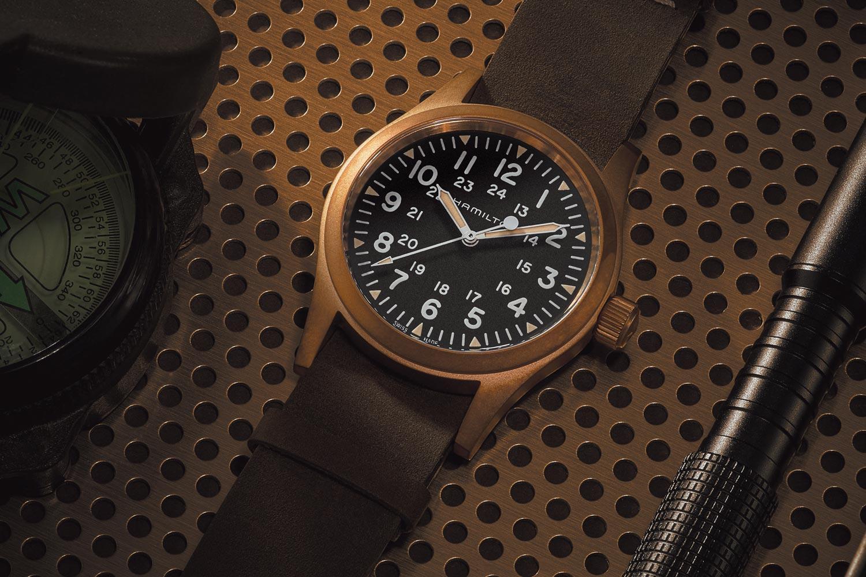 青銅色調、復古軍風:Hamilton Khaki Field系列青銅錶