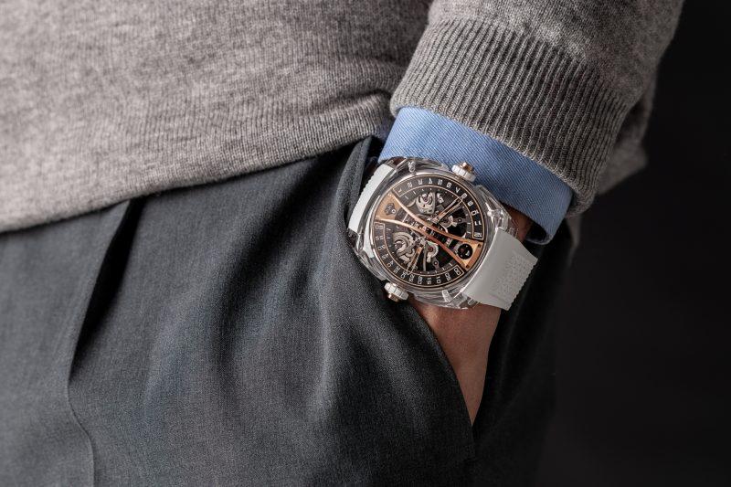 CYRUS GENÈVE 賽瑞錶慶祝成立10 周年,推出限量版 Klepcys 垂直鏤空藍寶石水晶陀飛輪錶
